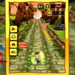 Touch 3d jungle run 3