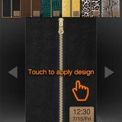 Touch 2 zipper lock leather collection android